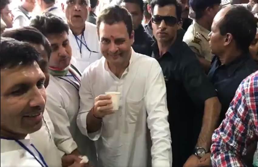 Rahul Gandhi Wink In Bhopal