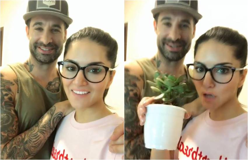 video of sunny leone, sunny leone with husband denial weber, sunny and weber, sunny leone get into the new house, sunny leone with ganpati bappa, sunny leone on ganesh chaturthi, ganpati bappa blessings with sunny leone, here is sunny sharing her happiness with fans in video, sunny leone videos, sunny with hsband denial weber, entertainment news, bollywood news, televisionn news, entertainment news, bollywood news, televisionn news