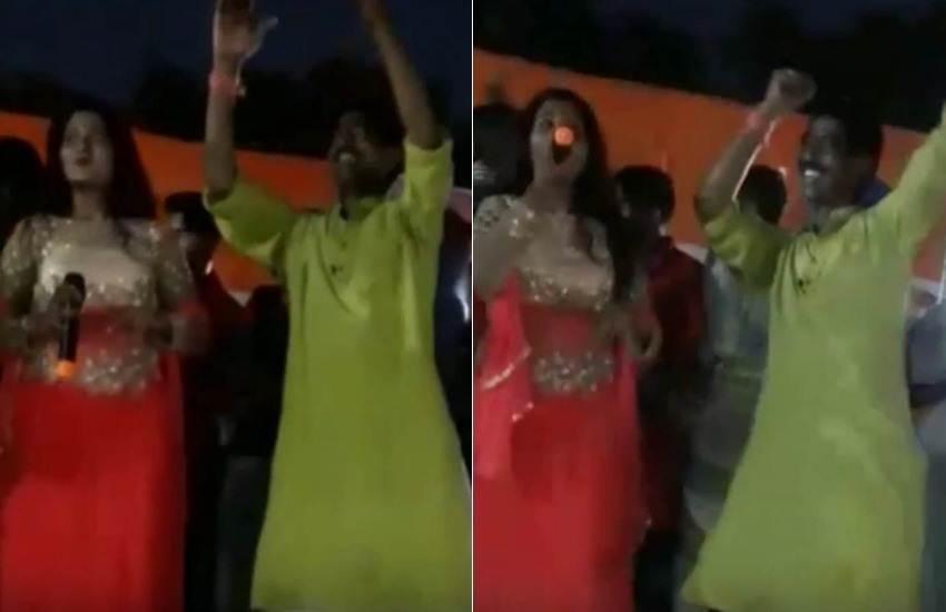MLA Item Dance on Gandhi Jayanti, Congress MLA Dance on Gandhi Jayanti, Milton Rashid, MLA, Congress, INC, Dance, Item Song, Mahatma Gandhi Jayanti, Event, Students, Teachers, Felicitation, Katagaria, Nalhati, Birbhum, West Bengal, State News, Hindi News