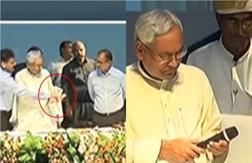 Nitish Kumar, Chief Minister, Bihar, Program, Technical Fault, Remote, Mike, Inactive, Stage, Sushil Modi, Deputy CM, BJP, Patna, Bihar, State News, Trending News, Hindi News