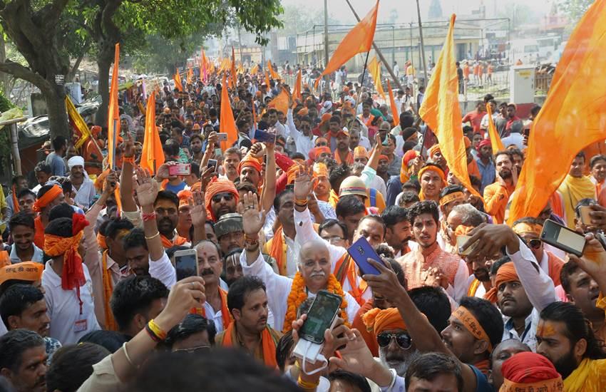 Pravin Togadia's rally in Ayodhya