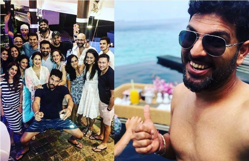 Indian Cricketers, Wives, Maldives, Vaccation, Yuvraj Singh, Hazel Keech, Zaheer Khan, Sagarika Ghatge, Ajit Agarjkar, Ashish Nehra, Party, Pool, Bear, Club, Disco, Enjoyment, Pictures, Yuvi, Instagram, Teeth, Dirty, Social Media, Users, Troll, Sports News, Cricket News, Trending News, Hindi News