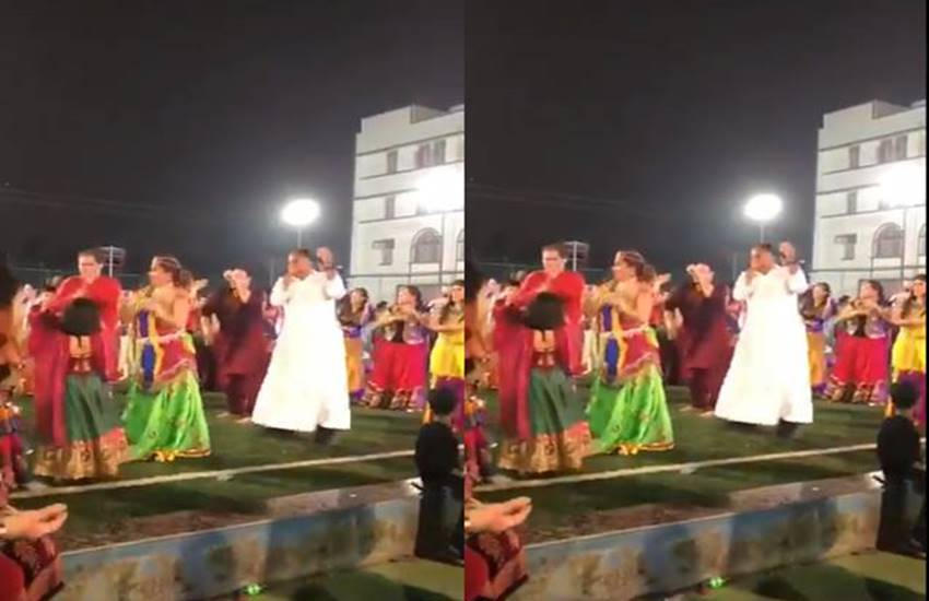 paster dance video. viral video, garba moves