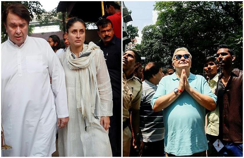 Randhir kapoor, Rishi Kapoor, Kareena Kapoor