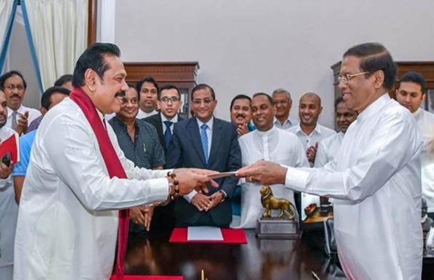 president, mahinda rajapaksa,take oath, prime minister of sri lanka,