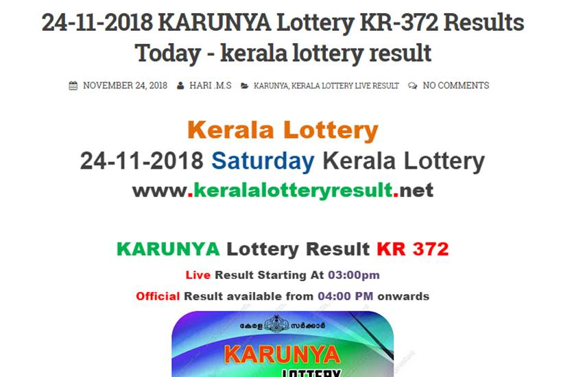 By Photo Congress || Kerala Lottery Results Pournami Rn 372