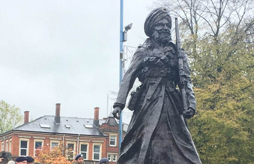 Sikh Soldier Statue in UK