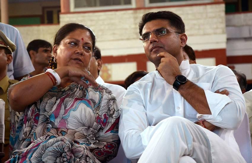 Vasundhara Raje with Sachin Pilot