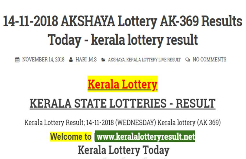 kerala lottery, winner