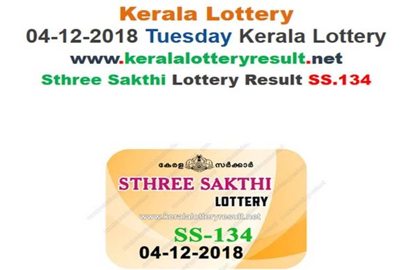Kerala Sthree Sakthi Lottery Results Chart Today 2018