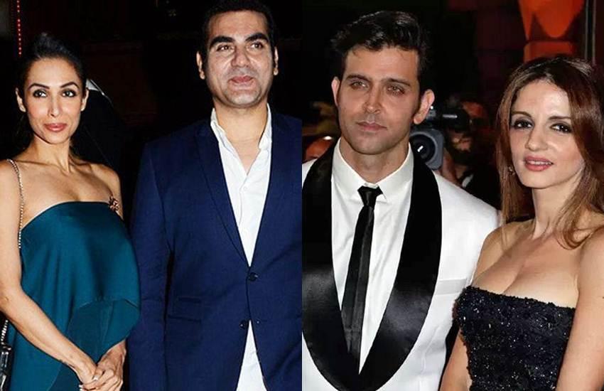 Hrithik Roshan-Sussane Khan, Farhan Akhtar-Adhuna Bhabani, Malaika Arora - Arbaaz Khan, Bollywood couples, Bollywood couples love story