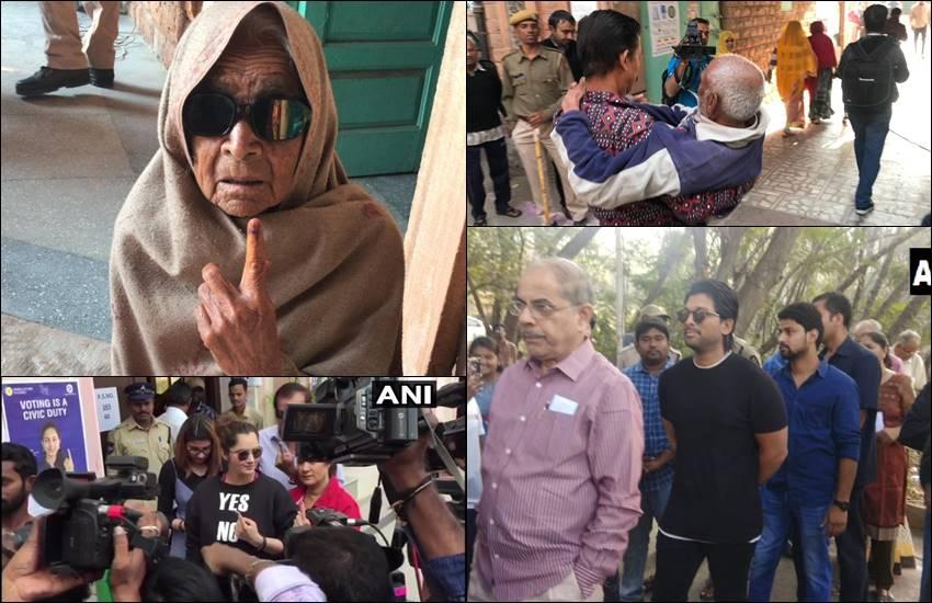 Elections 2018: तेलंगाना में सरकार चुनने के लिए लाइन में दिखे सुपरस्टार, राजस्थान में 100 पार के बुजुर्गों ने दिखाया दम