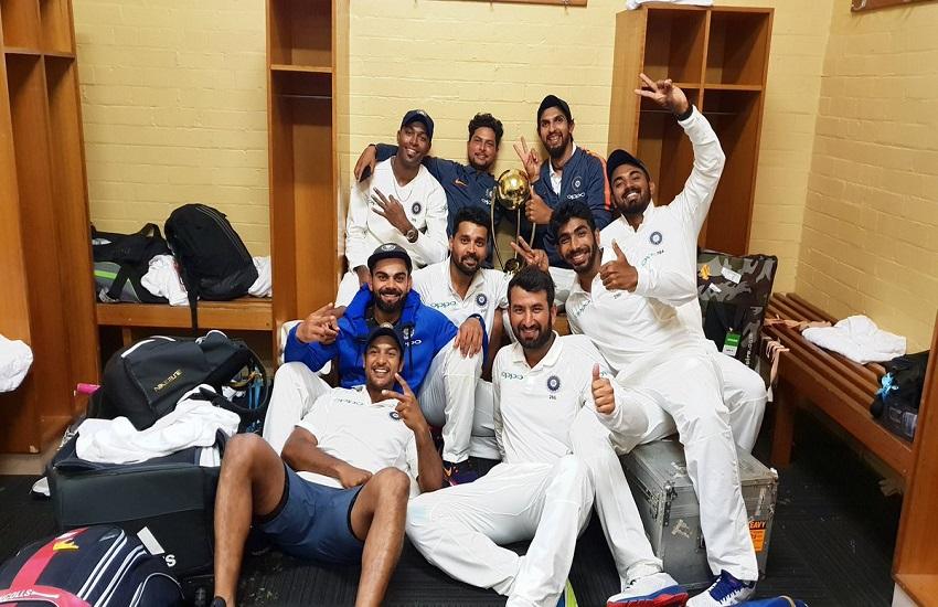ind vs aus, india vs australia, virat kohli, man of the match, cheteshwar pujara, ind vs aus record, team india record in australia