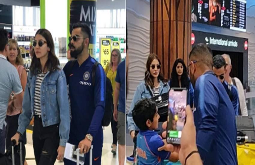 VIDEO: ऑस्ट्रेलिया फतह कर न्यूजीलैंड पहुंची टीम इंडिया, विराट के साथ अनुष्का भी आईंनजर