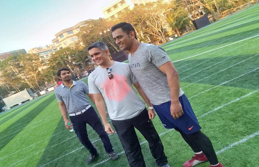 MS Dhoni, India vs Australia, Dhoni football match, India, cricket, team india, IPL 2019