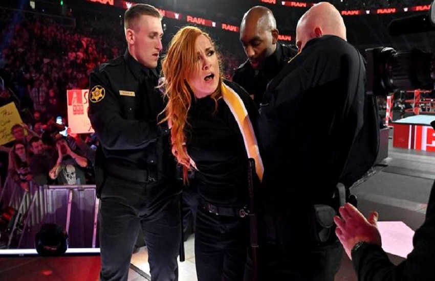 WWE Raw Results, WWE Raw, Becky Lynch, arrested for breaching suspension, Ronda Rousey vs Becky Lynch, Ronda Rousey, Charlotte Flair