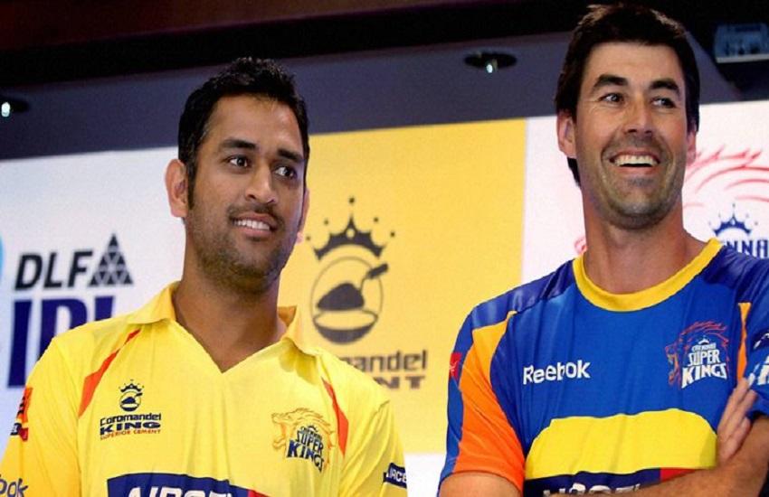 Mahendra Singh Dhoni, Chennai Super Kings, coach Stephen Fleming