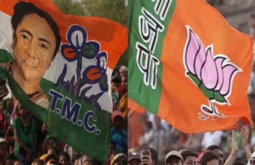 bjp- tmc flag
