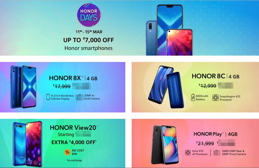 Redmi 6 Pro, Redmi 6A, Redmi Y2, Mi A2, Honor 7C, Honor Play, Honor 8C, Honor 8X, www.amazon.co.in, www.flipkart.com, honor days sale, honor sale,