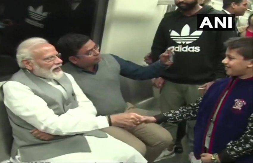 PM Modi, Delhi Metro