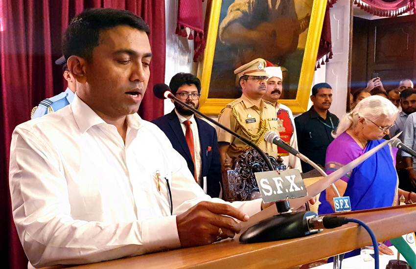 Pramod Sawant takes oath of Goa C M