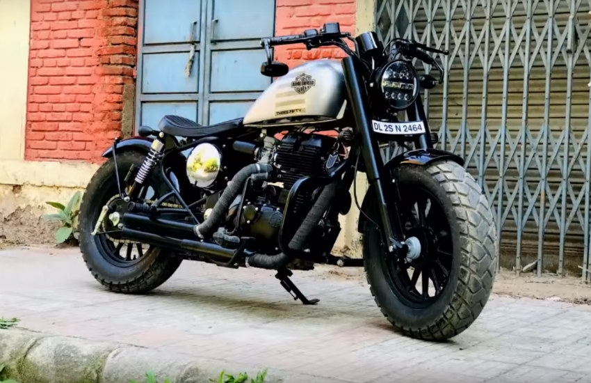Royal Enfield modified in to Harley Davidson, how to modified Royal Enfield, Royal Enfield modified to harley davidson, Royal Enfield modified cost, Royal Enfield modified price
