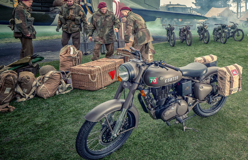 Royal Enfield used by Indian Army, history of indian army and royal enfield