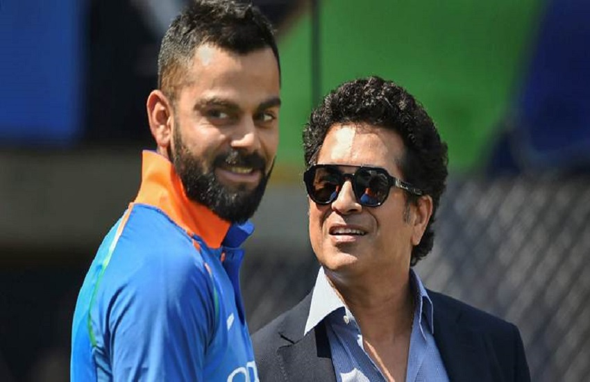 Virat Kohli, the Indian captain, Sachin Tendulkar, Jacques Kallis, former South Africa all-rounder,