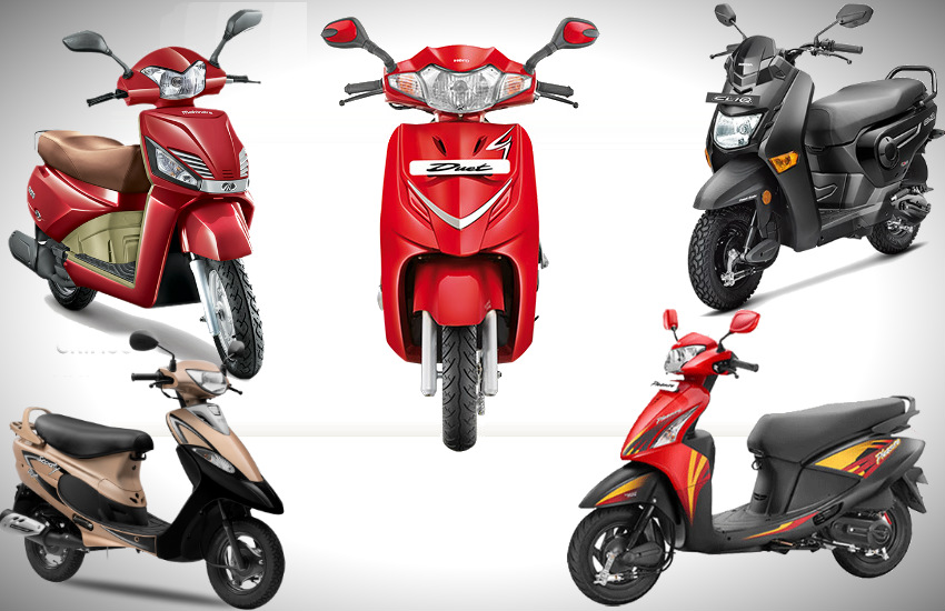 Top5 Cheapest Scooters in india, best mileage scooter in india, best performance scooter in india, best features scooter in india, most fuel efficient scooter in india, tvs scoot, hero pleasure, mahindra gusto, honda cliq, Hero Duet