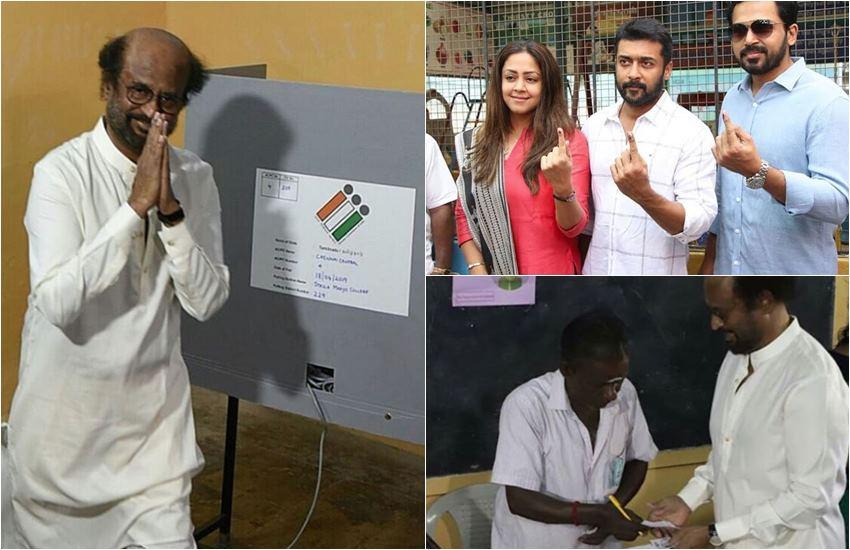 Election 2019: वोट डालने के लिए कतार में सुपरस्टार, रजनीकांत से लेकर विजय और अजीत तक आएनजर