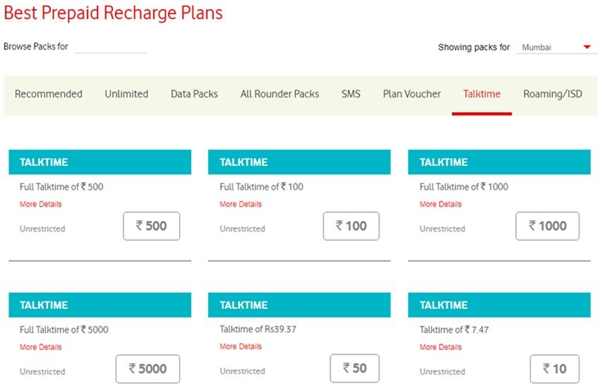 Vodafone, Vodafone latest plan, Vodafone rs. 50 plan, Vodafone rs. 100 plan, Vodafone rs. 500 plan, Vodafone new plan, Vodafone idea plan, Vodafone unlimited pack, Vodafone pack