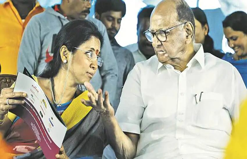 Sharad Pawar and Supriya Sule