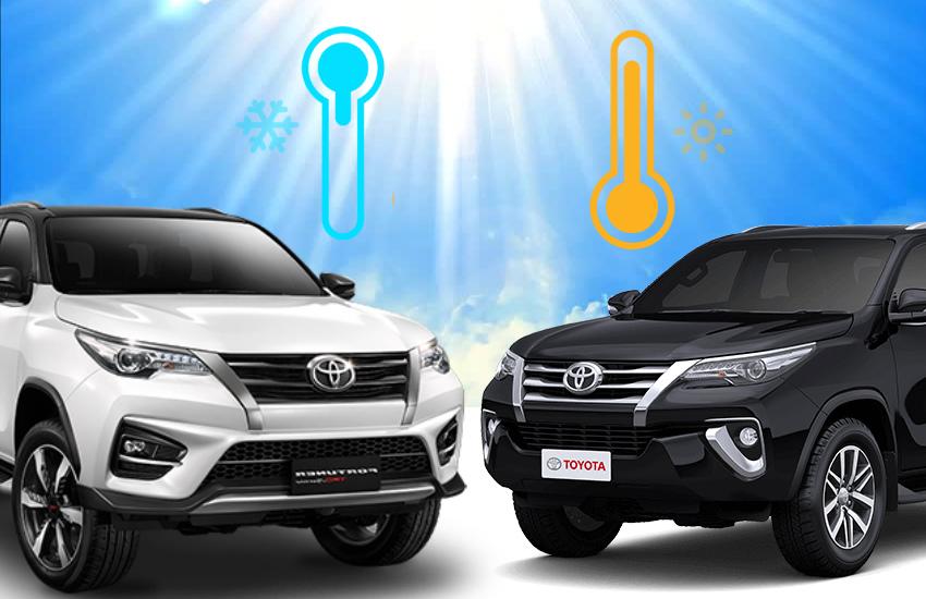 black color car heat in summer, white color car cool in summer, black color car AC affect in summer, car ac maintenance, car ac effect mileage