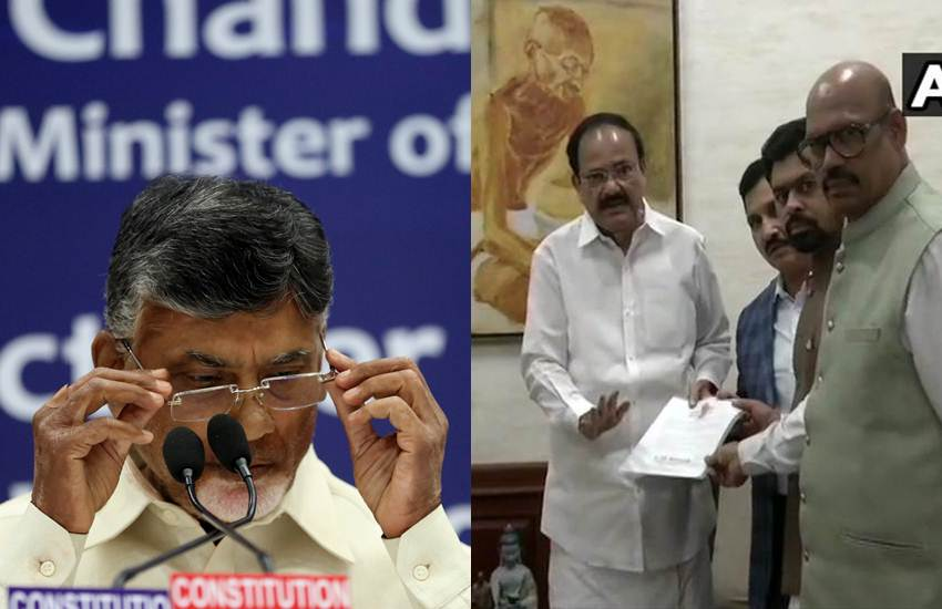 TDP Chief got a Huge Shock as Four Rajya Sabha MP YS Chowdary, TG Venkatesh CM Ramesh and GM Rao from his Party to Join BJP and met Vice President M Venkaiah Naidu