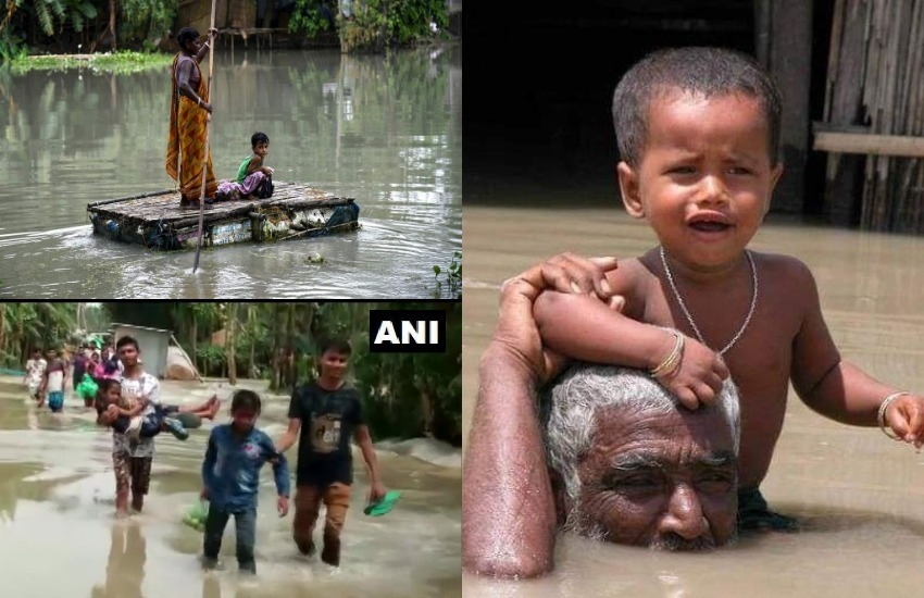 Floods, Rainfall, Heavy Rains, Assam Floods, Dhemaji, Barpeta, Villages, Bihar Floods, UP Floods, Meghalaya Floods, National Disaster Response Force, National News, India News, Jansatta News, Latest News, Hindi News
