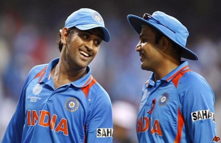 Mahendra Singh Dhoni and Virender Sehwag