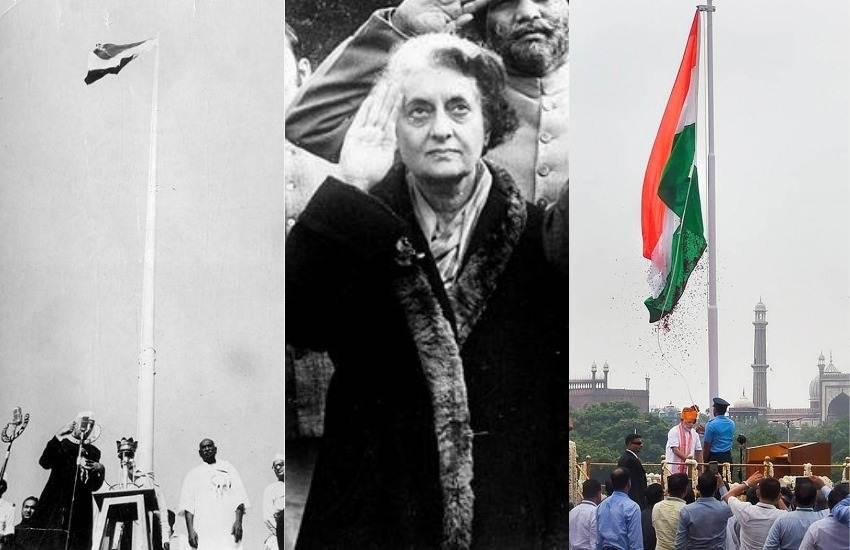 Independence Day 2019, Narendra Modi, BJP, NDA, Prime Minister, Hosting, Tirnaga, Tricolor, National Flag, Red Fort, Pandit Jawahar Lal Nehru, Indira Gandhi, Manmohan Singh, Atal Bihari Vajpayee, National News, Hindi News, Latest News, Jansatta News
