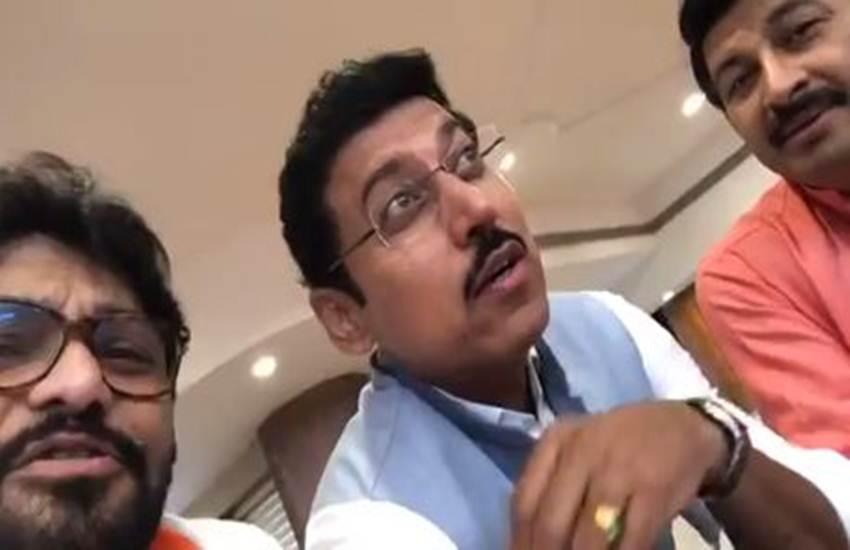 Rajyavardhan singh rathore, Babul Supriyo, Manoj tiwari, Union minister, pm modi, bjp, amit shah, jp nadda, bjp mp, ravi kishan, kishor kumar, viral video