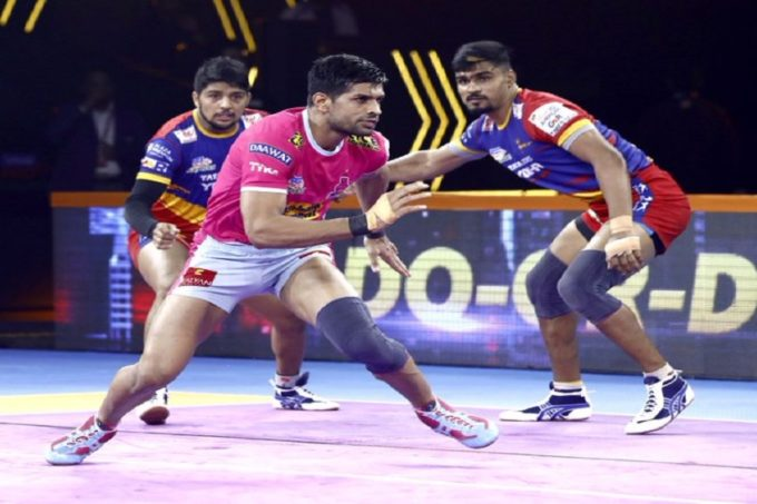 Pro Kabaddi 2019 Live Score, Jaipur Pink Panthers vs UP Yoddha  Live Score: यूपी योद्दा ने 38-32 के अंतर से जयपुर कोहराया