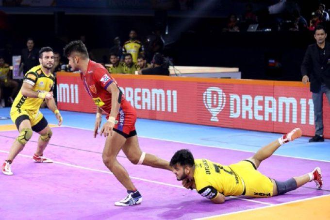 Pro Kabaddi 2019 Live Score, Telugu Titans vs Dabang Delhi  Live Score: दिल्ली ने दिखाया एक और दबंग प्रदर्शन, 37-29 के अंतर से जीता मुकाबला