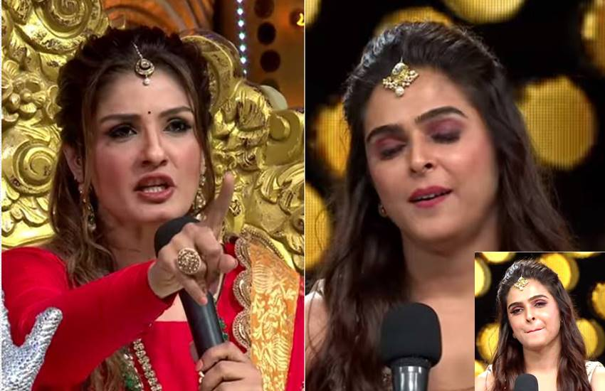 Raveena Tandon, Nach Baliye, Raveena Tandon Scold Nach Baliye contestant, Raveena Tandon Scold Madhurima, Madhurima Ex Boyfriend Vishalk, judge Raveena Tandon, Raveena Tandon shout on Kundali Bhagya actress, entertainment news, Nach Baliye Show entertainment news, Bollywood news, television news